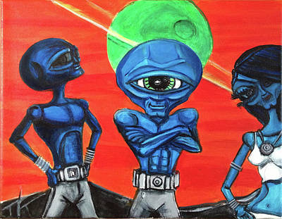 Painting - Alien Posse by Similar Alien