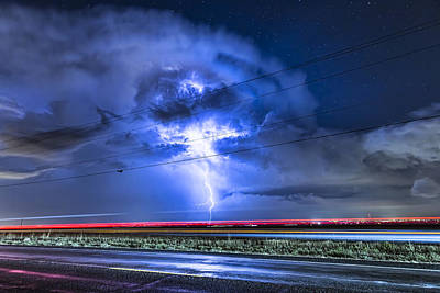 James Insogna Photograph - Alien Power Line Explosion by James BO  Insogna