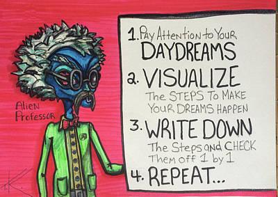 Daydreams Art Drawing - Alien Professor by Similar Alien