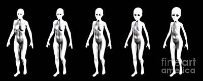 Alien Progression, Digital Art By Mb Art Print