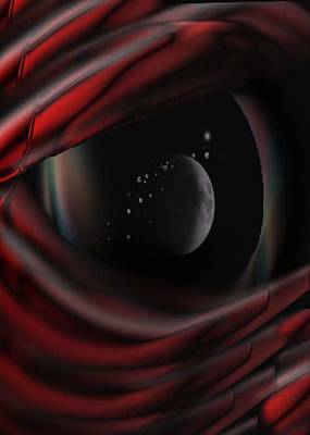 Red Abstract Digital Art - Alien Reflection by Jean Gugliuzza