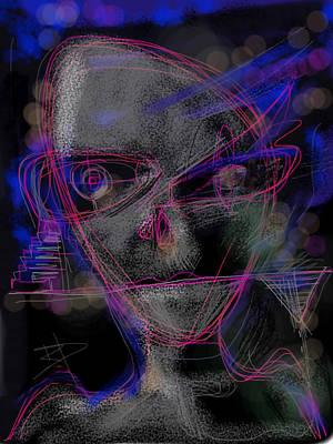 Digital Art - Alien by Russell Pierce