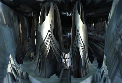 Digital Art - Alien Sanctuary by Hal Tenny
