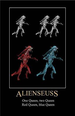 Digital Art - Alien Seuss by John Haldane