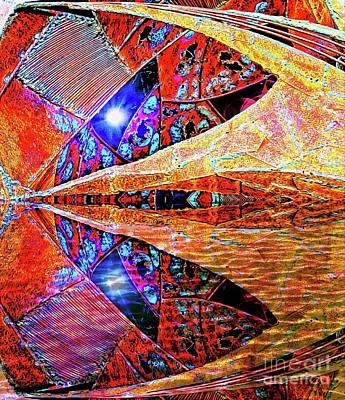 Digital Art - Alien Star Cave Reflection by Ian Gledhill
