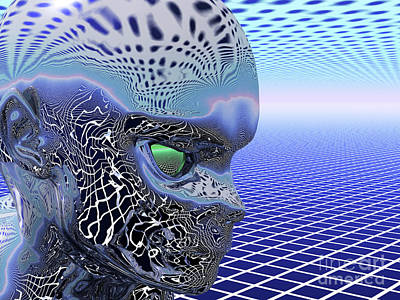 Digital Art - Alien Stare by Nicholas Burningham