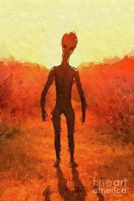 Science Fiction Paintings - Alien Summer by Raphael Terra
