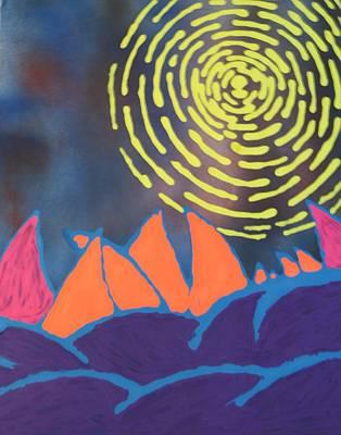Painting - Alien Sun by Travis Dosser
