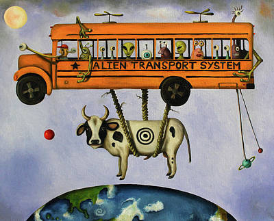 Astronomy Painting - Alien Transport System by Leah Saulnier The Painting Maniac
