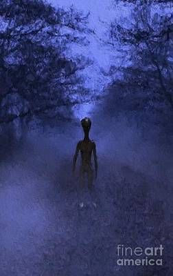 Science Fiction Royalty-Free and Rights-Managed Images - Alien Twilight by Raphael Terra