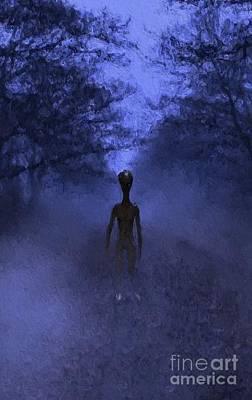 Science Fiction Paintings - Alien Twilight by Raphael Terra
