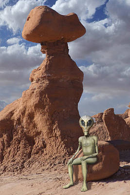 Alien Vacation - Goblin State Park Utah Art Print