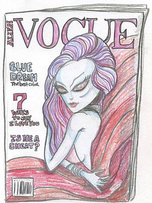 Drawing - Alien Vogue by Similar Alien
