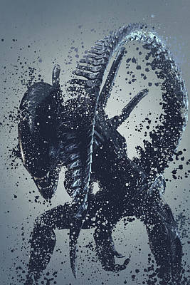 Xenomorph Digital Art - Alien Warrior Version 2 by Stewart Wood