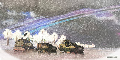 Alien Winter Storm Art Print