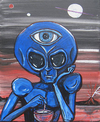 Painting - Alien With A Third-eye by Similar Alien