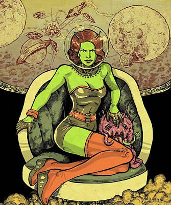 Alien Woman Art Print