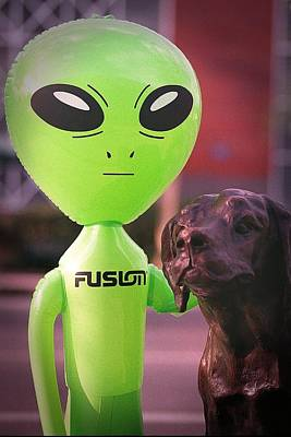 Inflatable Photograph - Alien's Best Friend by Richard Henne