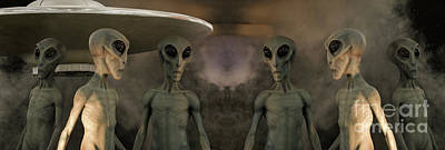 Photograph - Aliens And Ufo 7 by Bob Christopher