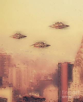 Science Fiction Royalty-Free and Rights-Managed Images - Aliens in New York by Raphael Terra