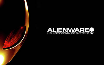 Curve Digital Art - Alienware by Super Lovely