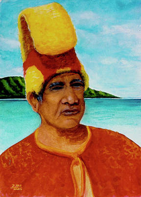 Alihi Hawaiian Name For Chief #295 Art Print by Donald k Hall