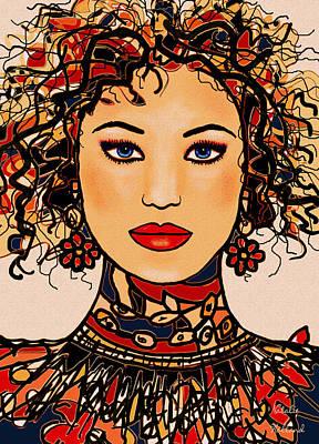 Fabric Mixed Media - Alina by Natalie Holland