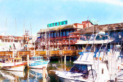 Photograph - Aliotos Restaurant Restaurant Fishermans Wharf San Francisco California Dsc2039 Wcstyle by San Francisco Art and Photography