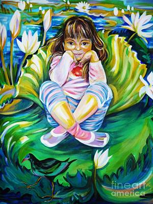 Art Print featuring the painting Alissa by Anna  Duyunova