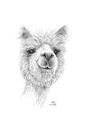 Drawing - Alissa by K Llamas