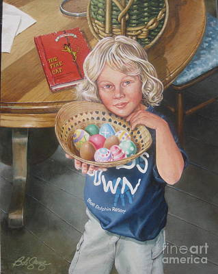 Painting - Alissa's Easter by Bob George