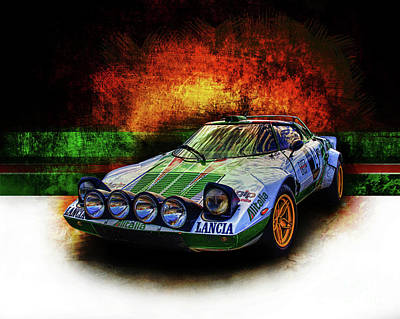 Photograph - Alitalia Lancia Stratos Hf by Stuart Row