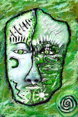 Painting - Alive A Mask by Shelley Bain