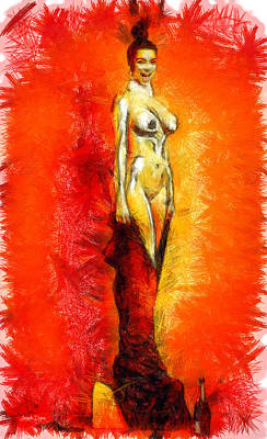 Performer Painting - Alive Trophy - Pa by Leonardo Digenio