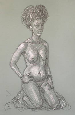 Drawing - Alizabeth Kneeling by Donelli  DiMaria