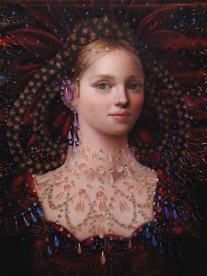 Beadwork Painting - Alizarin Closeup by Loretta Fasan