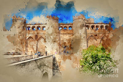 Painting - Aljaferia Moorish Palace Spain by Jack Torcello