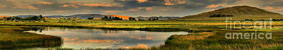 Photograph - Alkali Lake Sunset Panorama by Adam Jewell