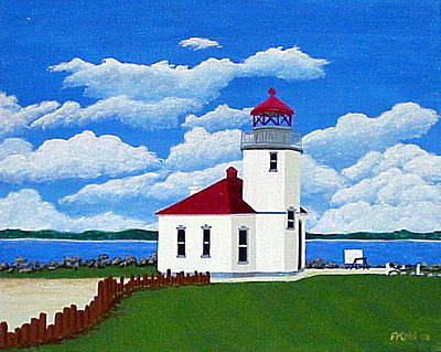 Painting - Alki Point Light by Frederic Kohli