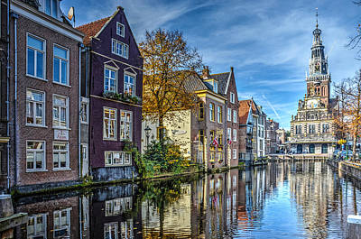Alkmaar From The Bridge Art Print by Frans Blok