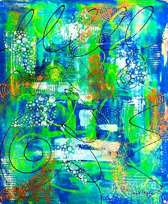 Mixed Media - All A Whirl by Julie Hoyle