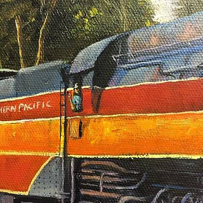Artist Wall Art - Photograph - All Aboard! My Train Painting Now Has by Darice Machel McGuire