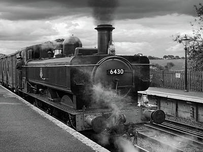 Photograph - All Aboard The Steam Train 6430 by Gill Billington
