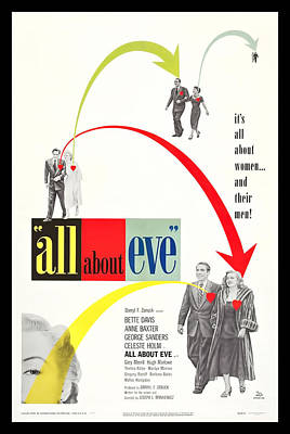 1950 Movies Digital Art - All About Eve by Georgia Fowler