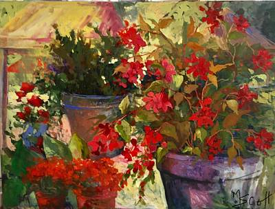 Painting - All About Red by Mary Scott