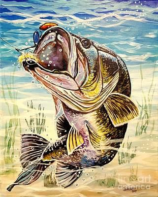 Painting - All About The Bass by Sandra Lett