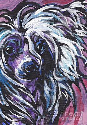 Dog Art Painting - All About The Crest by Lea S