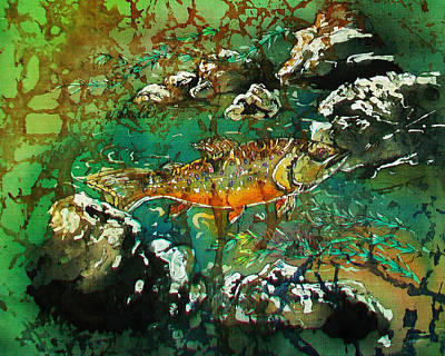 All About Trout Art Print by Sue Duda