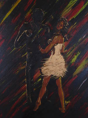 Shadow Dancing Painting - All About You by Barbara Hayes