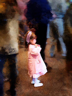 Lonely Girl Digital Art - All Alone In A Crowd by Francesa Miller